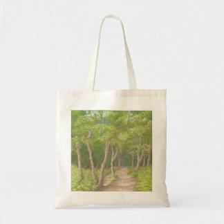 Path Through Trees, Leith Hill, Surrey Tote Bag