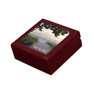 Path To Beach Ceramic Tile Gift Box