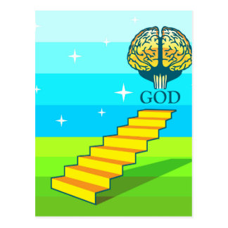 Path to God vector Postcard