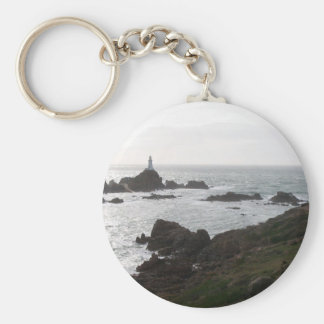 Path To La Corbiere Flooded With High Tide At Suns Key Chain