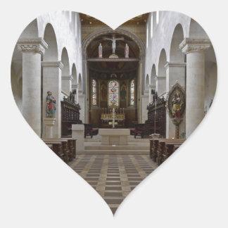Path to peace Juses Schottenkirche St_Jakob Innenr Heart Sticker