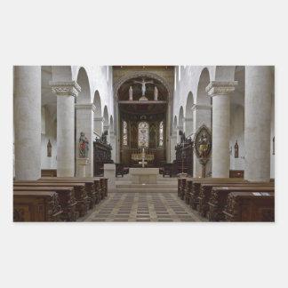 Path to peace Juses Schottenkirche St_Jakob Innenr Rectangular Sticker