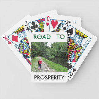 Path to Prosperity Bicycle Playing Cards