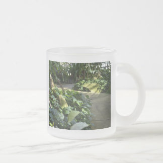 Path to the Botanical Gardens Frosted Glass Coffee Mug