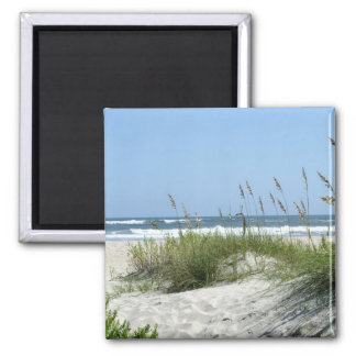 Path to the Sea-Ocracoke Island 2 Inch Square Magnet