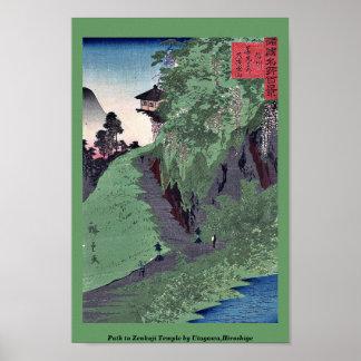 Path to Zenkoji Temple by Utagawa,Hiroshige Poster
