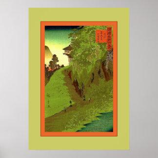 Path to Zenkoji Temple ~ Vintage Japanese Poster