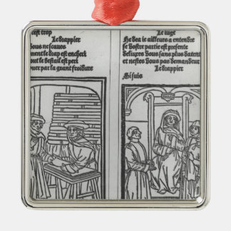 Pathelin and the Draper and Pathelin Metal Ornament
