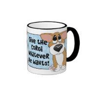 Pathetic Eyes Corgi Mug