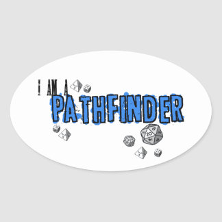 """Pathfinder, Blue"" Sticker"
