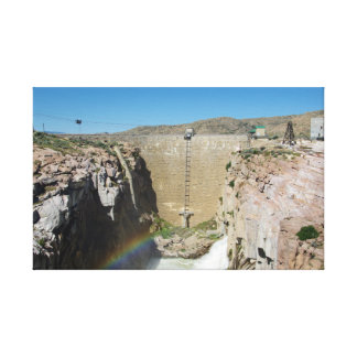 Pathfinder Dam and Fremont Canyon, Wyoming Canvas Print