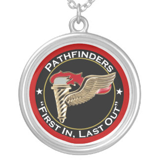 Pathfinder Motto Round Pendant Necklace