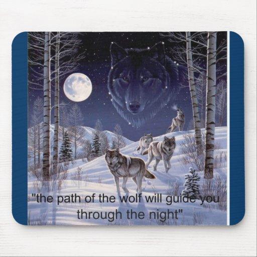 pathofthewolf mouse pad