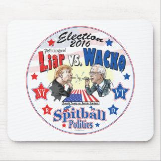 Pathological Liar Trump vs Wacko Bernie 2016 Mouse Pad