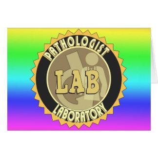 PATHOLOGIST BADGE LOGO MEDICAL LABORATORY CARD