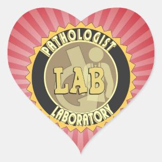 PATHOLOGIST BADGE LOGO MEDICAL LABORATORY HEART STICKER