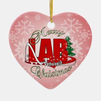PATHOLOGIST CHRISTMAS LABORATORY CERAMIC ORNAMENT