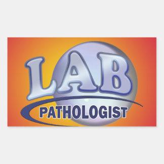 PATHOLOGIST Fun Blue LOGO - CLINICAL LABORATORY Rectangular Sticker