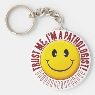 Pathologist Trust Smiley Basic Round Button Keychain