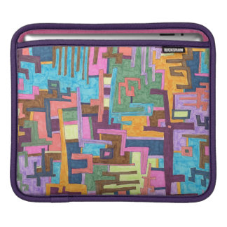 """Paths"" Abstract Art iPad Sleeve"
