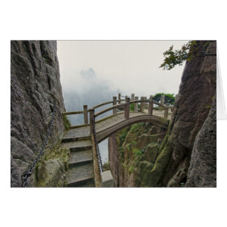 Pathway and small bridge, Yellow Mountain, 2 Card