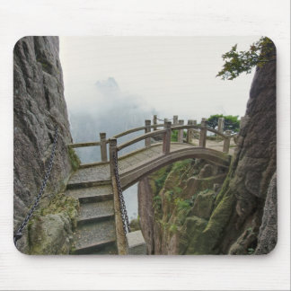 Pathway and small bridge, Yellow Mountain, 2 Mouse Pad