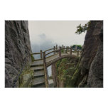 Pathway and small bridge, Yellow Mountain, 2 Poster