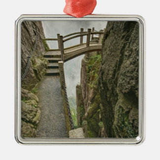 Pathway and small bridge, Yellow Mountain, Metal Ornament