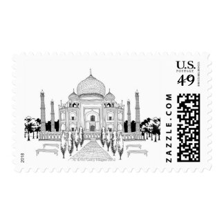 Pathway by Taj Mahal Stamp