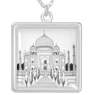 Pathway by Taj Mahal Square Pendant Necklace
