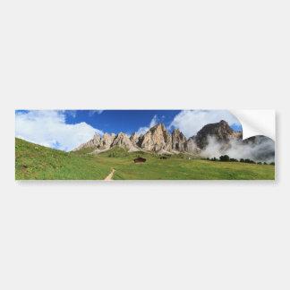pathway in Italian Dolomites Bumper Sticker