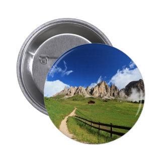 pathway in Italian Dolomites Pinback Button