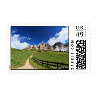 pathway in Italian Dolomites Postage