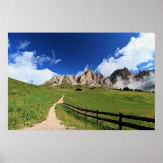 pathway in Italian Dolomites Poster
