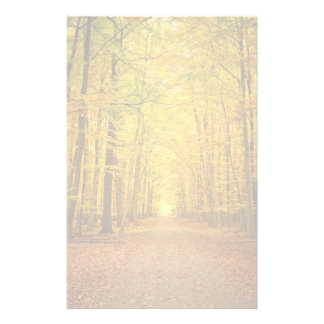 Pathway in the autumn forest stationery