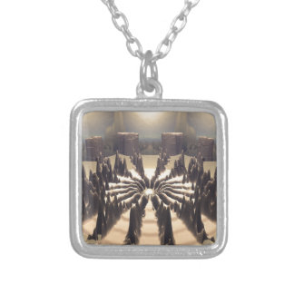 Pathway of Peaks Silver Plated Necklace