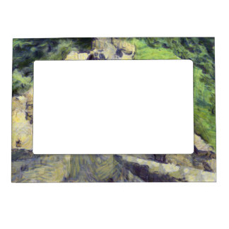 Pathway on the Great wall of China Photo Frame Magnet