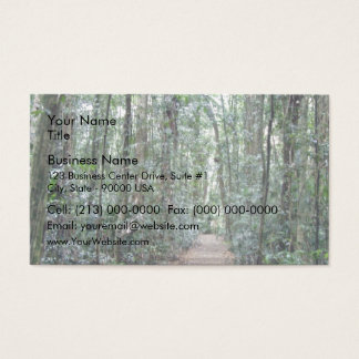 Pathway through the forest business card