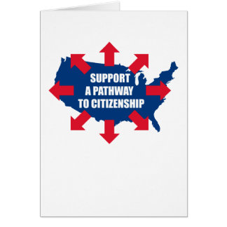 Pathway To Citizenship Greeting Cards