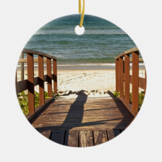 Pathway to the Beach.jpg Ceramic Ornament