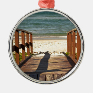 Pathway to the Beach.jpg Metal Ornament