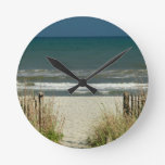 Pathway to the Ocean Waves Round Wall Clock