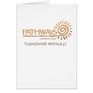 Pathways Leadership for Progress Notecards Card