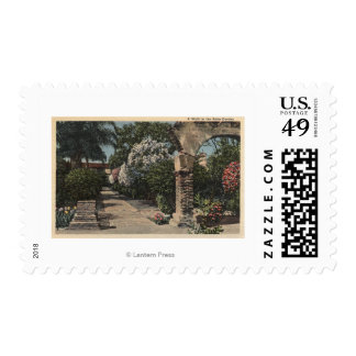 Pathways of the Patio Mission Garden Postage Stamp