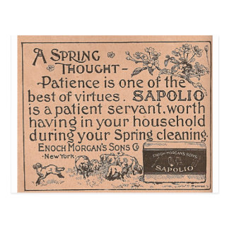 Patience advertisement for Sapolio Postcard