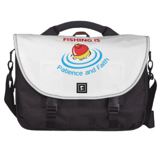 PATIENCE AND FAITH LAPTOP COMMUTER BAG