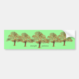 PATIENCE AND STRENGTH TREE BUMPER STICKER