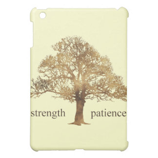PATIENCE AND STRENGTH TREE iPad MINI CASES