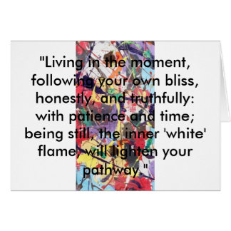 Patience and Time.Greeting,Note Gift Card.Mindful. Card