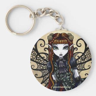 """Patience"" Auburn Haired Goth Faery Keychain"